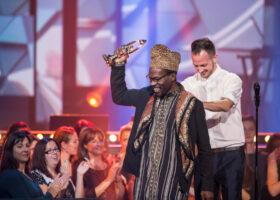 ADISQ 2015 : le premier gala - Pierre Kwenders gagnant du Félix Vidéoclip de l'année (crédit photo : Jean-François Leblanc)