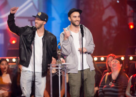 ADISQ 2015 : le premier gala - Eman X Vlopper gagnants du Félix de l'Album - Hip Hop (crédit photo : Jean-François Leblanc)