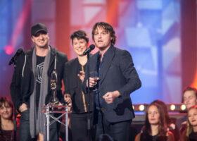 ADISQ 2015 : le premier gala - Galaxie gagnant du Félix de l'Album - Alternatif (crédit photo : Jean-François Leblanc)