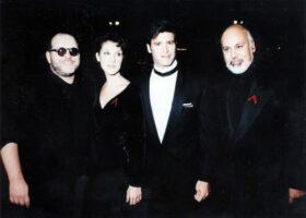 Paul Vincent, Céline Dion, Roch Voisine et René Angelil