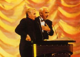 Charles Aznavour et Yvon Deschamps