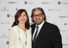 GALA DE L'ADISQ 2015 : Marc Hervieux et sa conjointe Caroline Rheault ( crédit photo : Louis-Charles Dumais)