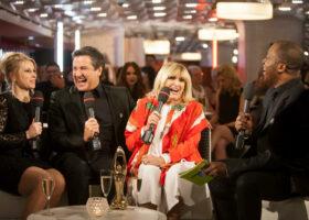 GALA DE L'ADISQ 2015 : Cathy Gauthier, René Simard et Dominique Michel en entrevue avec Herby Moreau ( crédit photo : Jean-François Leblanc)