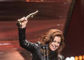 GALA DE L'ADISQ 2015 : Isabelle Boulay gagnante du Félix Spectacle de l'année - Interprète ( crédit photo : Jean-François Leblanc)