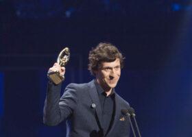 GALA DE L'ADISQ 2015 : Patrice Michaud gagnant du Félix Spectacle de l'année : Auteur-compositeur-interprète ( crédit photo : Jean-François Leblanc)