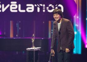 Gala de l'ADISQ - Émile Bilodeau, gagnant du Félix pour Révélation de l'année