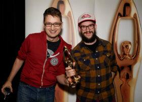 Gala de l'Industrie - Sam Murdock et Gab Pelletier, gagnants du Félix pour Pochette de l'année