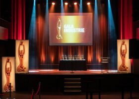 Gala de l'Industrie - La scène est prête pour accueillir les gagnants...